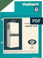 Mode d'Emploi Chaudière VAILLANT VCW 25 T3W
