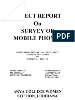 Survey of Mobile Phone