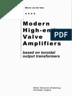 Modern High End Valve Amplifiers By Menno van der Veen