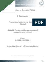 Unidad 2. Teorias Sociales Que Explican El Comportamiento