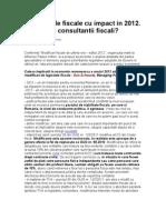 Fiscalitate 2012