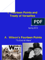 1.  14 Points and Treaty of Versailles