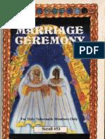 The Marrage Ceremony-Dr Malachi Z York