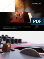 Nord Keyboards brochure Winter NAMM 2013
