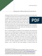 HI878 Methods and Interpretations of Historical Research Literature Review