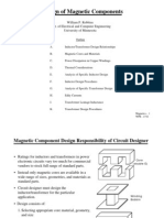 Design of Magnetic Components
