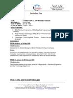 CV sample for a Data-Entry vacancy