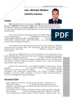 CV sample for a Data-Entry vacancy