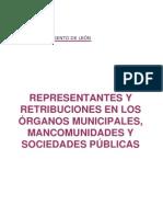 Retribuciones en el Ayuntamiento de León