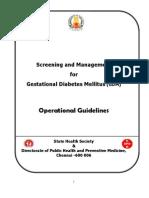 GESTATIONAL DIABETES MELLITUS- SREENING