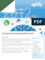 Marketing Benchmark Report Optify