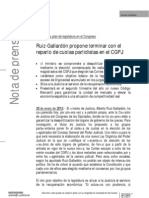 Ruiz-Gallardón - Plan de legislatura en el Congreso
