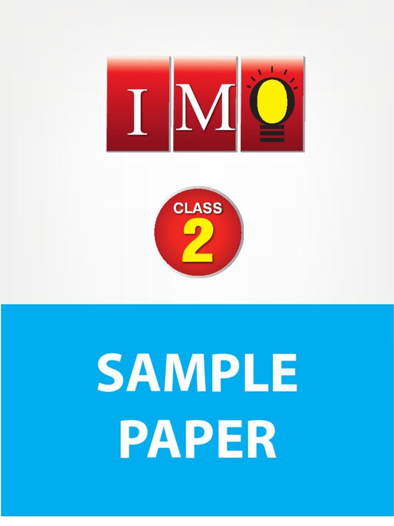 class-2-imo-4-years-sample-paper pdf | Mathematics | Science