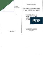LECLERCQ Jean, L'Amour des Lettres et le Désir de Dieu, Initiation aux Auteurs Monastiques du Moyen Age, Cerf Paris 1990