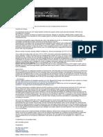 Brief SMOC aan Milieudienst inzake stank Isla en versterking Milieudienst 30 jan 2013
