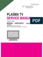 LG 32PC5R service manual