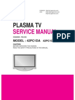 LG 42PC1DA service manual