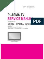 LG 42PC1DA service manual