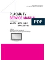 LG 42PC1D service manual