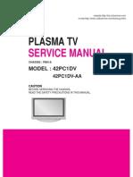 LG 42PC1DV service manual