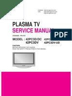LG 42PC3D service manual