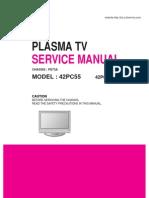 LG 42PC55 service manual