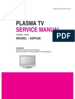 LG 42PC56 service manual