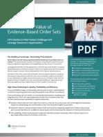Returned Value Of Evidence-Based Order Sets