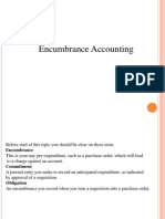Oracle Encumbrance accounting