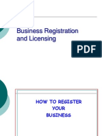 Business Registration and Licensing