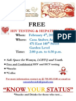 Free HIV and Hep-C Testing