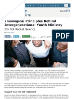 Theological Principles Behind Intergenerational Youth Ministry