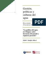 """""""La política del agua en Chiapas"""