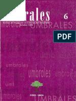 Revista Umbrales6. Revista Del Postgrado en Ciencias Del Desarrollo CIDES UMSA La Paz Bolivia