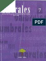 Revista Umbrales7. Revista Del Postgrado en Ciencias Del Desarrollo CIDES UMSA. La Paz Bolivia