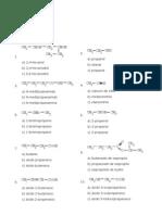 Señala el nombre correcto para estos compuestos