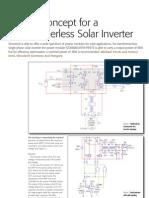 design concept of transformerless solar inverter