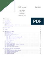 Unix tutorial from UMCP