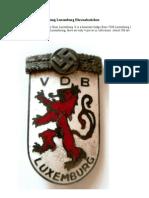 Volksdeutsche Bewegung Luxemburg Ehrenabzeichen
