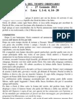 Pagina dei Catechisti - 27 gennaio 2013