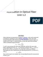 attenuation in optical fiber