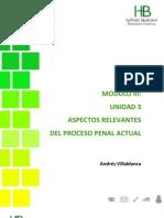 UNIDAD 3. Aspectos Relevantes Proceso Judicial Actual
