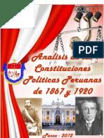 COnstituciones de 1867 y 1920