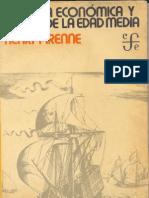 Pirenne Henry Historia Economica y Social de La Edad Media