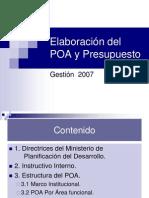 PRESENTACION POA2007 SPYS.ppt