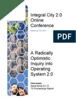 Integral City 2.0 Online Conference 2012 Appendices