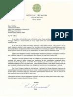 Rahm Emanuel Letter to Brian Gaffney of Allianz Asset Management