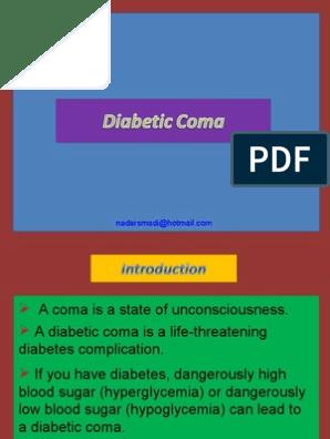 essay with diabetic coma hypoglycemia diabetes mellitus the