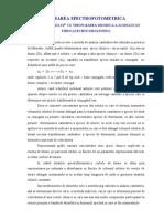 TITRAREA SPECTROFOTOMETRICA DETERMINAREA Fe3+ CU TIRON (SAREA DISODICA A ACIDULUI 3,5 PIROCATECHIN DISULFONIC)