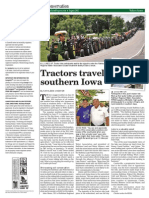 Tractors travel Rathbun Lake Watershed